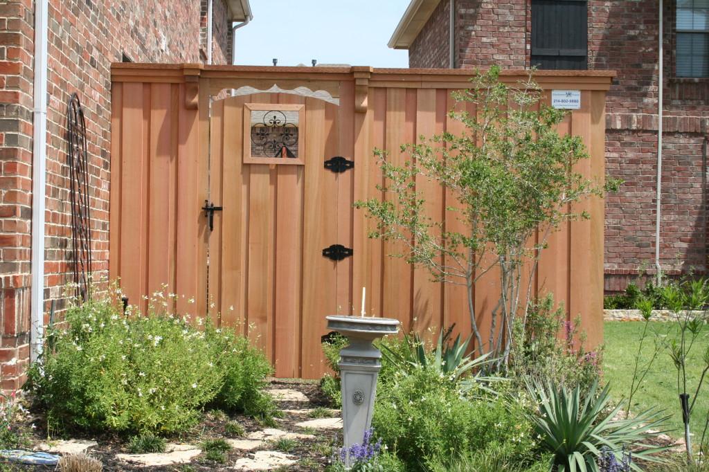 decorative wood fence gates